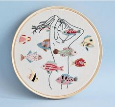 Grand Sewing Embroidery Designs At Home Ideas. Beauteous Finished Sewing Embroidery Designs At Home Ideas. Learn Embroidery, Hand Embroidery Stitches, Modern Embroidery, Hand Embroidery Designs, Embroidery Techniques, Ribbon Embroidery, Embroidery Art, Cross Stitch Embroidery, Machine Embroidery