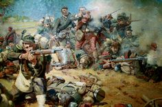 Marshal Canrobert's French troops in combat, Franco-Prussian War