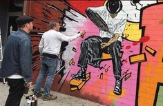 """Nick Walker & CrashOne, """"New York State of Mind"""" at the St_ArtNow wall on Ludlow & Delancey Street on the Lower East Side, NYC, 2017 Nick Walker, Lower East Side, The St, Nyc, New York, Street, Wall, New York City, Walls"""