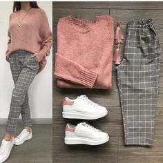 Combine and combine combi outfits - Just Trendy Girls: - Clothes - . - Combine and combine combi outfits – Just Trendy Girls: – clothes – # … - Casual Hijab Outfit, Casual Outfits, Simple Outfits, Grey Pants Outfit, Ootd Hijab, Modern Outfits, Winter Fashion Outfits, Fall Outfits, Fall Fashion