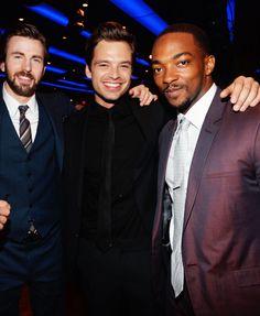 Chris Evans, Sebastian Stan, Anthony Mackie (captain america: winter soldier cast)