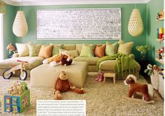 i want a comfy couch in the playroom for the kids, or if it has to share space with a 'family' room, a nice big sectional like this one.