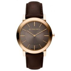 Slim Brown Dial Brown Leather Men's Watch