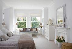 bedroom white & brown