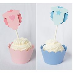 Gender Reveal Cupcake Toppers | Piece of Cake Parties