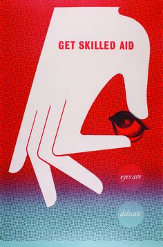 Manfred Reiss – Get Skilled Aid, poster for The Royal Society for the Prevention of Accidents, 1940s