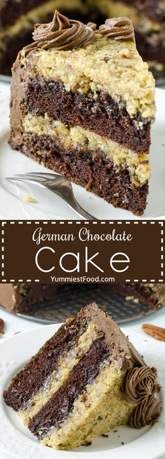German Chocolate Cake GERMAN CHOCOLATE CAKE – The Best Homemade German Chocolate Cake is a wonderfully delicious combination of chocolate cake, coconut and pecans! Perfect decadent dessert for chocolate lovers! Homemade German Chocolate Cake, Chocolate Recipes, Chocolate Lovers, Cake Chocolate, German Chocolate Cheesecake, Chocolate Filling, Food Cakes, Cupcake Cakes, Cupcakes