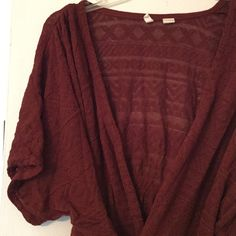 """✳️FLASH SALE✳️ Moth dolman tie front cardigan This adorable tie front sweater is so hard to photograph! Cotton/rayon. Excellent condition. Under sleeves across 18"""". Length 23-26"""". Bundle for even bigger savings! Offers welcome. No trades. Anthropologie Sweaters Cardigans"""