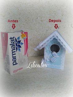 Lilicutes by Kakuseisha: Casa Desafio Abril _ Casinha de Pássaros