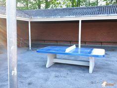 Pingpongtafel Afgerond Blauw bij Elverdamsskolen, afd. St. Merløse in Store Merløse