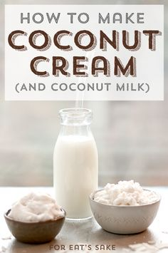 Homemade Coconut Milk and Coconut Cream (low-FODMAP, AIP-compliant)| ForEatsSake.org - Learn how to make two kitchen staples - coconut milk and coconut cream - from the dried coconut you probably already have in your pantry!#aip #vegan #pegan #paleovegan #soyfree #nutfree #glutenfree #lowfodmap #dairyfree #plantbased #BestNutritionFood Make Coconut Milk, Coconut Cream, Cashew Milk, Best Nutrition Food, Health And Nutrition, Health Tips, Proper Nutrition, Healthy Food, Nutrition Websites
