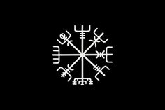 Vegvísir - A Norse protection symbol popularly known as a Runic Compass and found within the Galdrabók, an Icelandic book of magic. The translation of Vegvísir from Icelandic is 'guidepost' or 'direction sign'. This symbol helps the wearer to never lose his way.