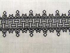 16th Century Blackwork (cenefa perfecta para un mantel)