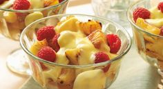 Grilled Pineapple with Raspberries and Rum Sabayon. This is yummy!