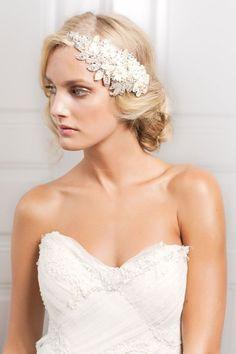 bridal hair accessories: crystal encrusted headband