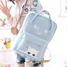 "Fabric material:canvas. Color:light blue,dark blue,pink,green, Size: Height:38cm/14.82"". Width:28cm/10.92"". Thick:13cm/5.07""."
