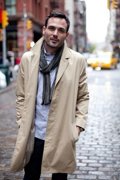 Men always look great in a trench.