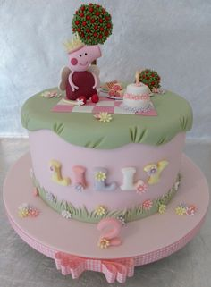 Fairy Peppa Pig Cake | I loved making this cake, the little … | Flickr