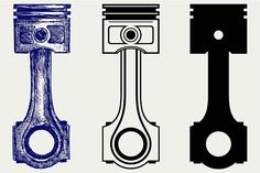 Engine piston SVG by LineworkStock on Pistons Logo, Engine Pistons, Garage Logo, Engine Tattoo, Chevy, Bull Tattoos, Best Icons, File Image, Business Illustration