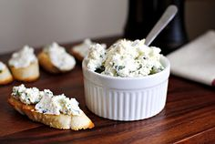homemade ricotta with basil and lemon via tasty kitchen Appetizer Dips, Appetizer Recipes, Ricotta, Pesto, Great Recipes, Favorite Recipes, Filled Pasta, Lemon Basil, Tasty Kitchen