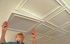 <p>Embossed polystryrene foam ceiling tiles are easy to install while adding interest and elegance to a room.</p>