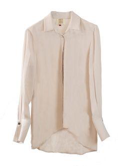 Camisa básica en color crema Rania.