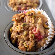 Whole Wheat Raspberry Pistachio Muffins // Another Root