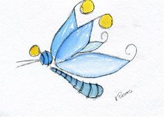 """Wonderlandia Dragonfly"" - Original Fine Art for Sale - Watercolor and Ink - © Kali Parsons - http://kaliparsons.blogspot.com"