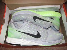 Nike Lunarglide 7 Mens Running Shoes 11 Wolf Grey Black Ghost Green 747355 003 #Nike #RunningCrossTraining