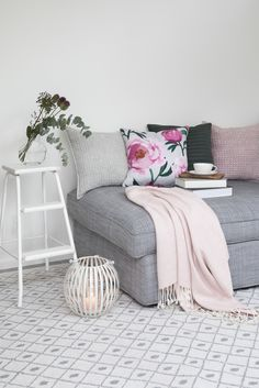 Pioni Cushion Cover    Pentik Spring 2018   Create a beautiful spring home with sophisticated Pioni (Peony) pattern where hefty flowers on the surface of the fabric remind us of plentiful summer garden. Deliciously pink Pioni (Peony) makes your home bloom.