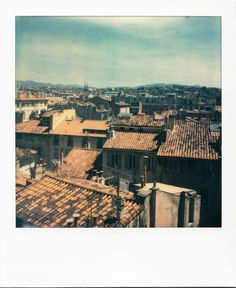 Toits du centre-ville #Marseille #polaroid #toits #tuile #vue / www.marseillepolaroid2013.com