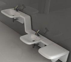 Удобство сантехники бренда #Axa удивляет с первой минуты  Эта итальянская компания производит самую разнообразную продукцию для ванных комнат, главной отличительно особенностью которой является просто великолепный, изумляющий глаз #дизайн. Так и эта композиция #раковина, #биде и #унитаз не оставит равнодушным людей, предпочитающих стиль и практичность.   http://santehnika-tut.ru/axa/