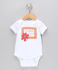 Take a look at this White & Red 'Made With Love' Personalized Bodysuit - Infant by Initial Request on #zulily today!