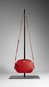 London Leather Crossbody Bag Burberry