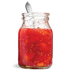 Peach-Raspberry Jam.   Keep this jam in the refrigerator up to 1 month.