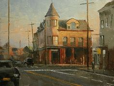 No. 1 East Main Street, Oyster Bay. by Paul Bachem Oil ~ 9 x 12