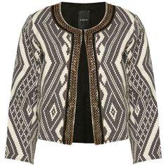 Marques | Vestons et gilets | Blazer d'ikat brodé Dreamy | La Baie... (2.960 RUB) ❤ liked on Polyvore featuring outerwear, vests, blazer jacket, gilet vest and blazer vest