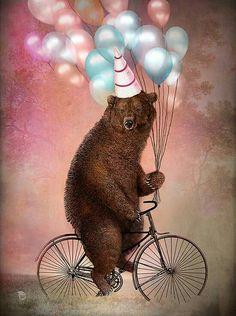 """ Birthday Bear "" by Christian Schloe"