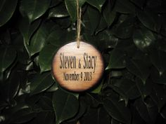 Personalized Christmas Ornament Rustic Wedding by dlightfuldesigns, $10.00