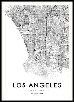 Posters met wereldkaart en steden | Wereldkaart online bekijken | Desenio.nl