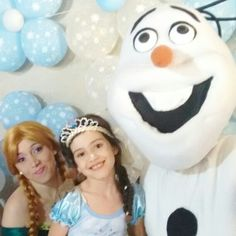 Personagem vivo , show frozen, neve artificial 11 947564076 whatsapp  www.analufesta.com.br
