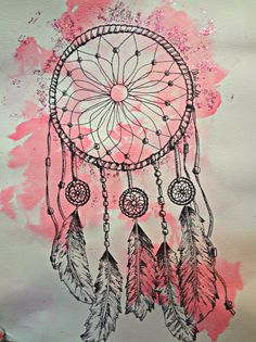 Dream Catcher Drawing by ArtByAlexisSmith on Etsy, $10.00