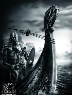 Johan Hegg from Amon Amarth by thecasperart