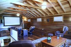 awesome attic tv room