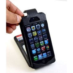 NAVOR iPhone 5 Wallet Case in Leather FLIP Style  ($17.50)