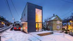 Arkitektparet ville at tomten og huset skulle bli billigere enn en ny leilighet i samme størrelse. Det klarte de. - Aftenposten