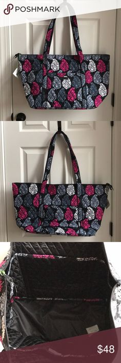 Miller tote BRAND NEW! VERA BRADLEY-Miller tote! This is a VERY hard pattern to find! So VIBRANT! This bag has 6- pockets on the inside- 2- pockets on the outside- with one that can in-zip to put on your luggage.- A zipper to close!   AMAZING COLORS and PATTERN!!! Vera Bradley Bags Totes