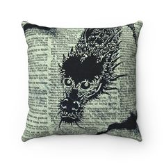 Japanese Dragon Dictionary Art Version-2 Pillow Cover