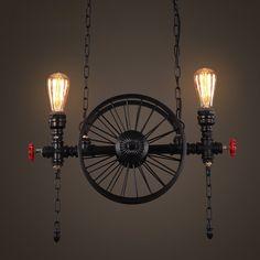 Loft Industrial Restaurant Kunst Beleuchtung Retro Web Kaffee Bar Eisen Kronleuchter ( Farbe : A ): Amazon.de: Beleuchtung