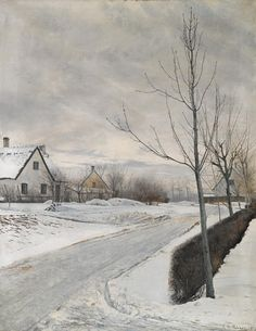 Laurits Andersen Ring - Winter Day, 1912, oil on canvas, 120 x 93 cm